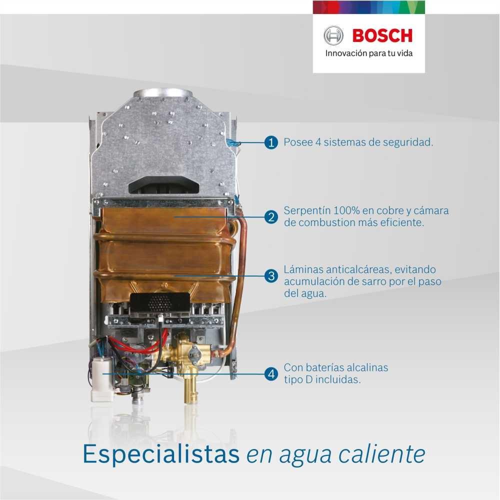 Therm 2200  Tiro Natural de 10  litros Bosch gn y glp B